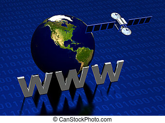 Satellite Communication - Worldwide Web through satellite...