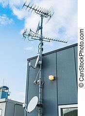 Satellite Dish and Antenna TV . - Satellite Dish and Antenna...