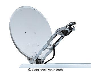 satellite dish antenna isolated on white