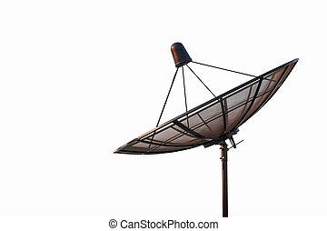 satellite dish antenna radar isolated on white background