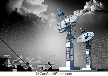 Satellite dish - Highly quality of satellite dish in white...