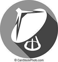 satellite dish icon flat icon