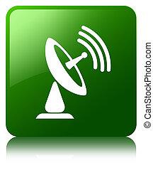 Satellite dish icon green square button