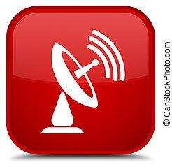Satellite dish icon special red square button