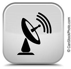 Satellite dish icon special white square button
