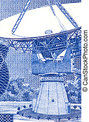 Satellite Dish on Currency Note