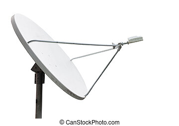 satellite dish on the white background