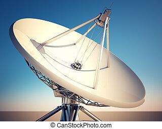 satellite, dish.