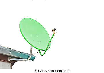 Satellite dish on white background