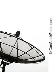 Satellite Dish - Part of Satellite Dish on isolated on white...