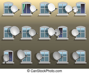 Satellite Dish Window - Satellite dishes beside the windows ...