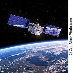 satellite, espace