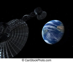 satellite, espace ouvert