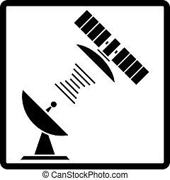 Satellite icon button