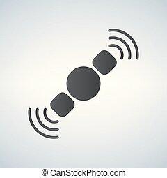 satellite icon vector illustration isolated on white