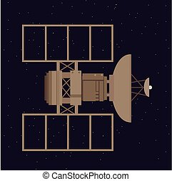 satellite in space orbit navigation communication station