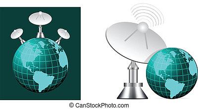 satellite, la terre