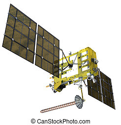 satellite, moderne, navigation