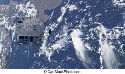 satellite, orbiter, la terre