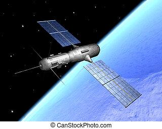 Satellite over the