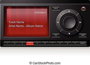 satellite, radio, stereo, ricevitore