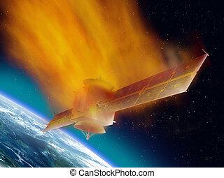 satellite, reentry