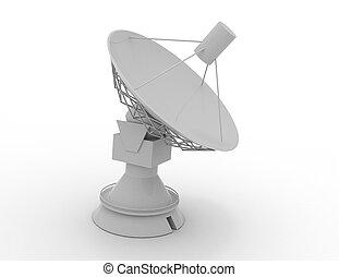 satellite, rendu, science, .3d, illustration, concept, plat, 3d