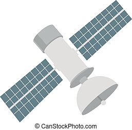 Satellite, space, station icon vector image. Can also be...