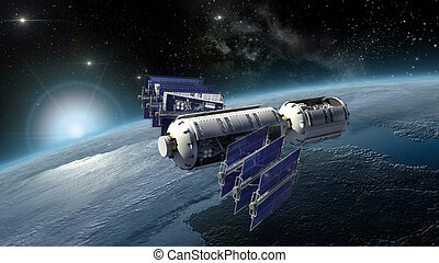 Satellite surveying Earth