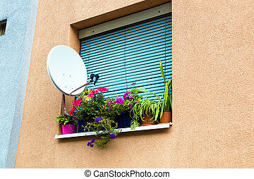 satellite system at home - satellite system for a television...