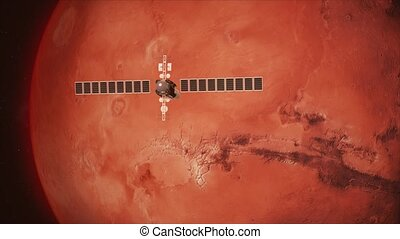 Satellite Telescope Passes Mars - Cinematic animation of a...