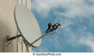 Satellite Television Dish - Satellite television dish on the...
