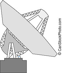 satellite, vecteur, plat