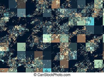 Satellite View - Generic Computerized Satellite Partial View...