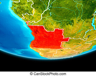 Satellite view of Angola - Angola from orbit of planet Earth...