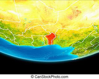 Satellite view of Benin - Benin from orbit of planet Earth...