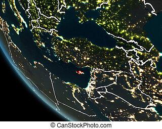 Satellite view of Cyprus at night - Satellite view of Cyprus...