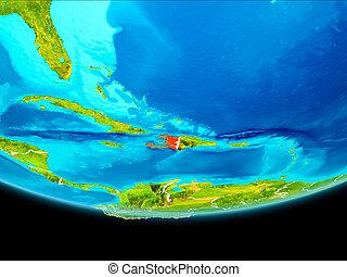 Satellite view of Haiti - Haiti from orbit of planet Earth ...