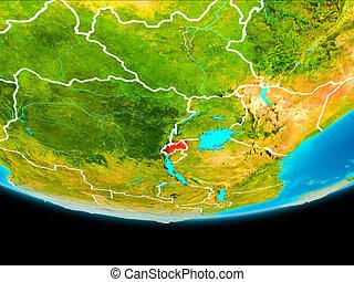 Satellite view of Rwanda - Rwanda from orbit of planet Earth...
