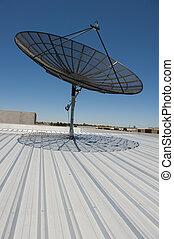 satellitenschüssel, kommunikation