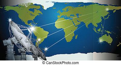 Satellites in the sky