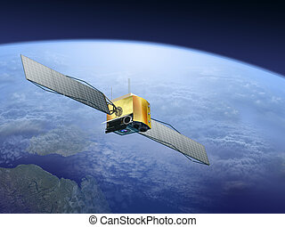 satellites over the Earth