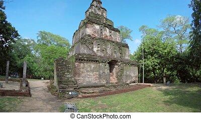 Sathmahal Prasadaya, the Seven Story Stupa in Polonnaruwa,...