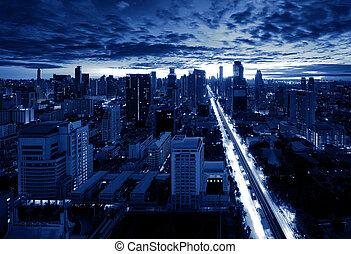 Sathorn at Sunrise, Bangkok, Thailand