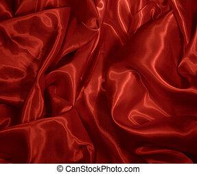 satijn, rood