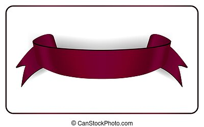 satin empty ribbon banner