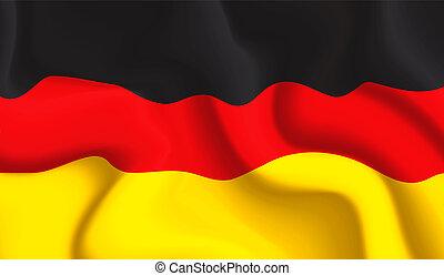 Germany waving flag
