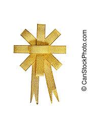 Satin Gold ribbon on white