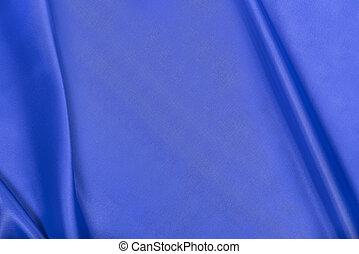 satin., soie, bleu