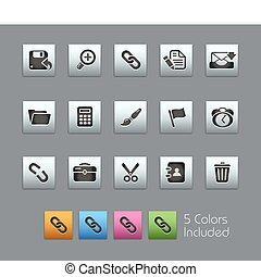 satin, toile, /, interface, boîte